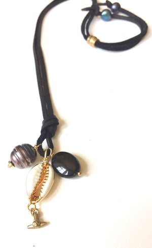 Black Sand Charm Necklace