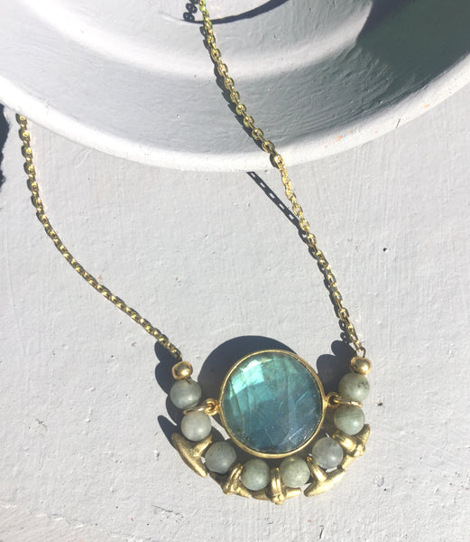 Spring Mini Moon Necklace
