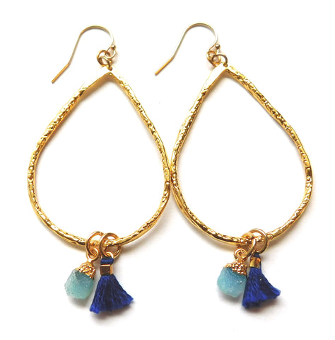 Azurite Blue Hoops