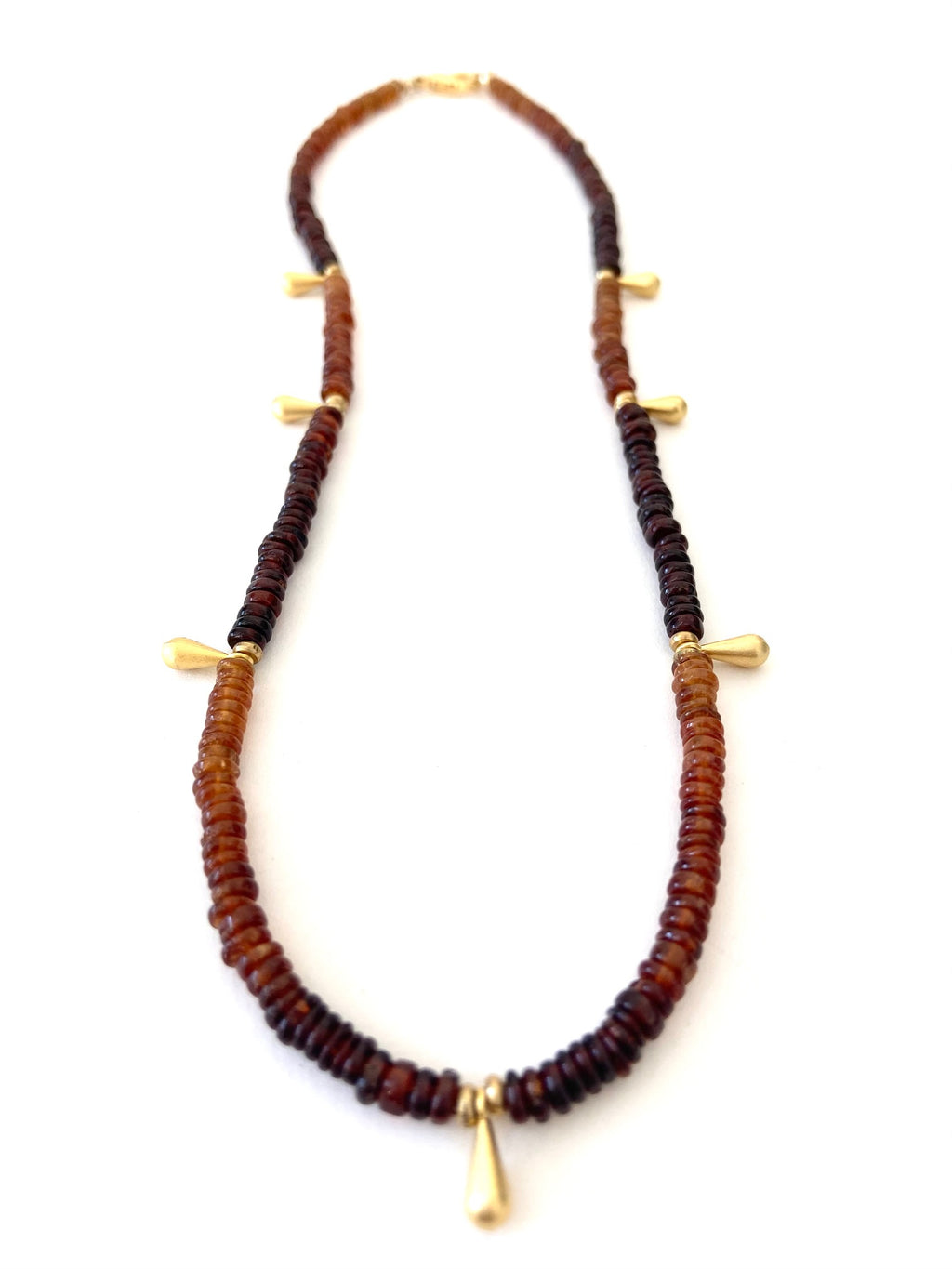 Mojave Sunrise Necklace in Shaded Garnet