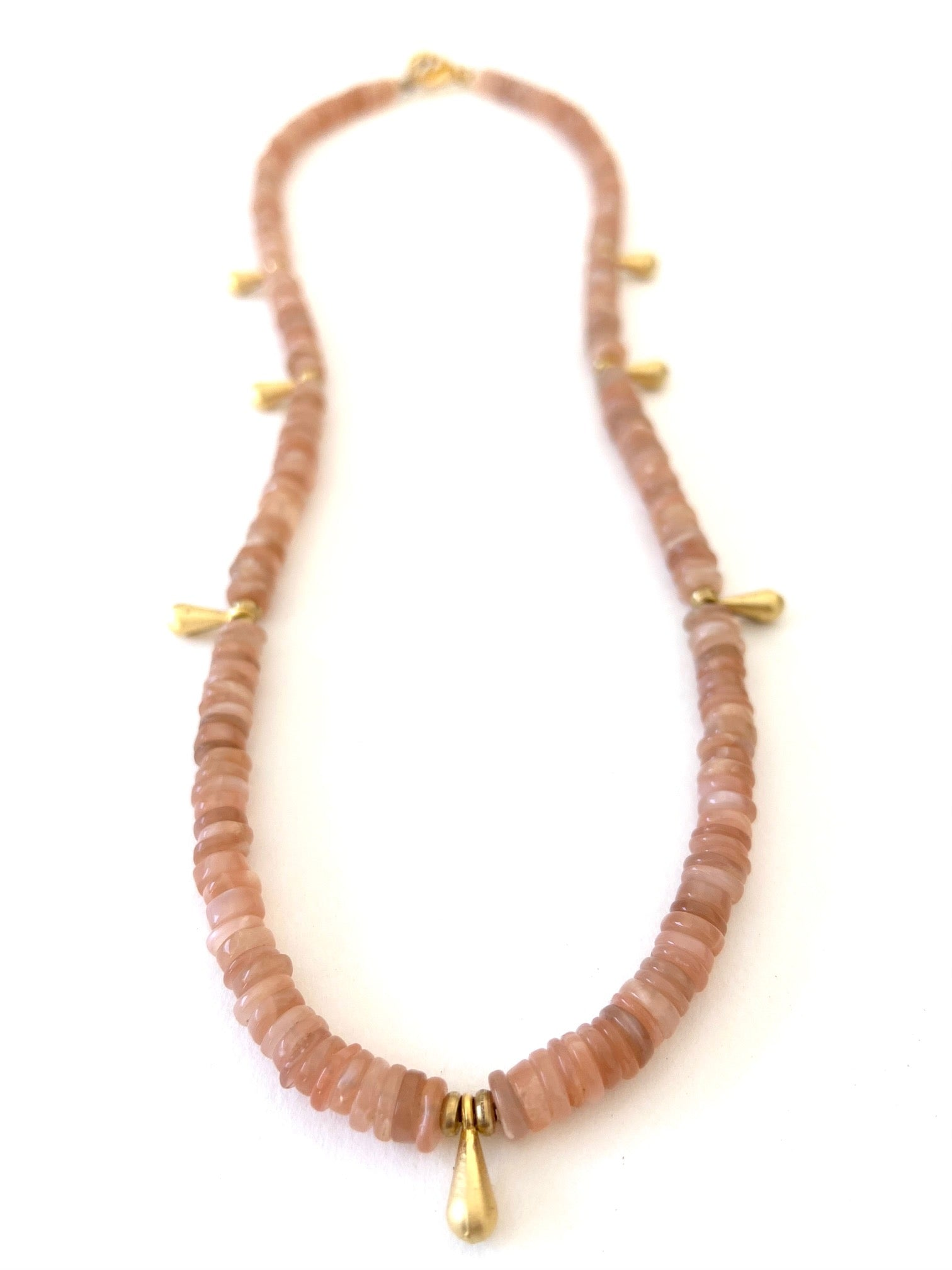 Mojave Sunrise Necklace in Rose Moonstone