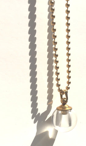 Crystal Ball Bottle Necklace