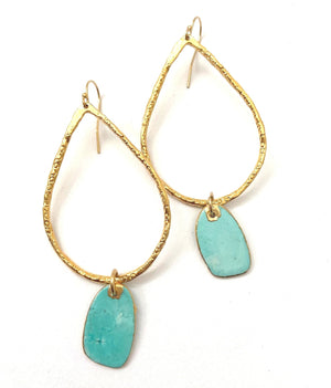 Turquoise Tag Earrings