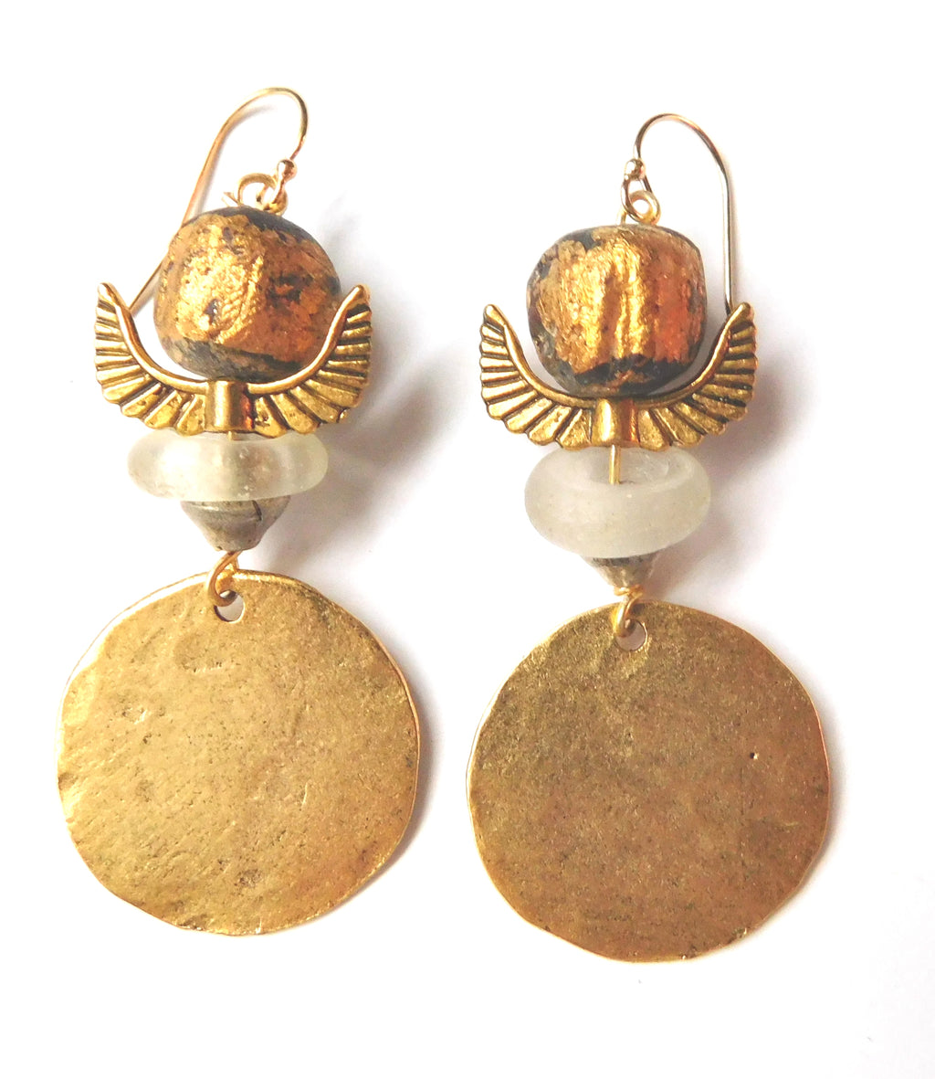 Totem Coin Earrings