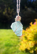 Cornflower Blue Seaglass Pendant