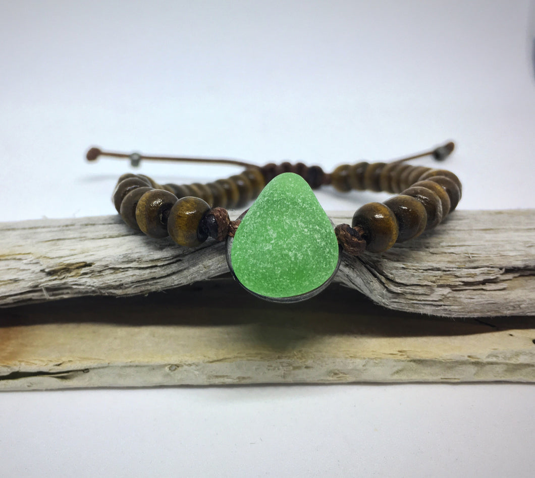 Seaglass Beaded Bracelet