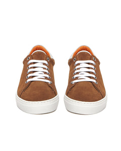 Camel Suede Low Top Sneaker