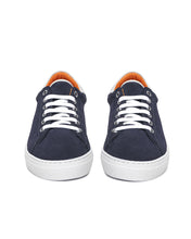 Navy Suede Low Top Sneaker