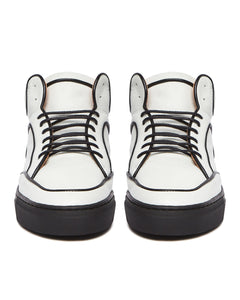 White & Black Maxi High Top Sneaker