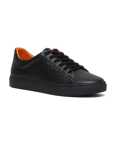 Black - Originals Embossed Monogram Low Top Sneaker