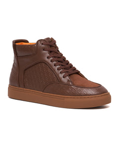 Brown -  Maxi High Top Sneaker