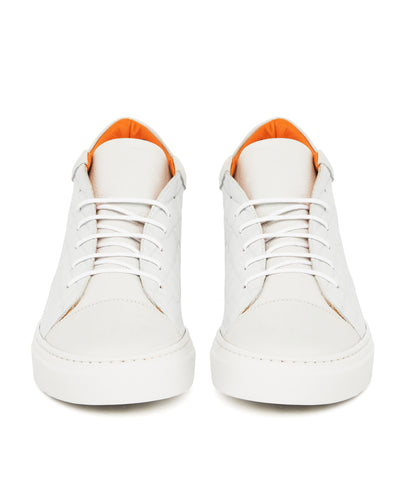 White Nu Money Mid Top Sneaker