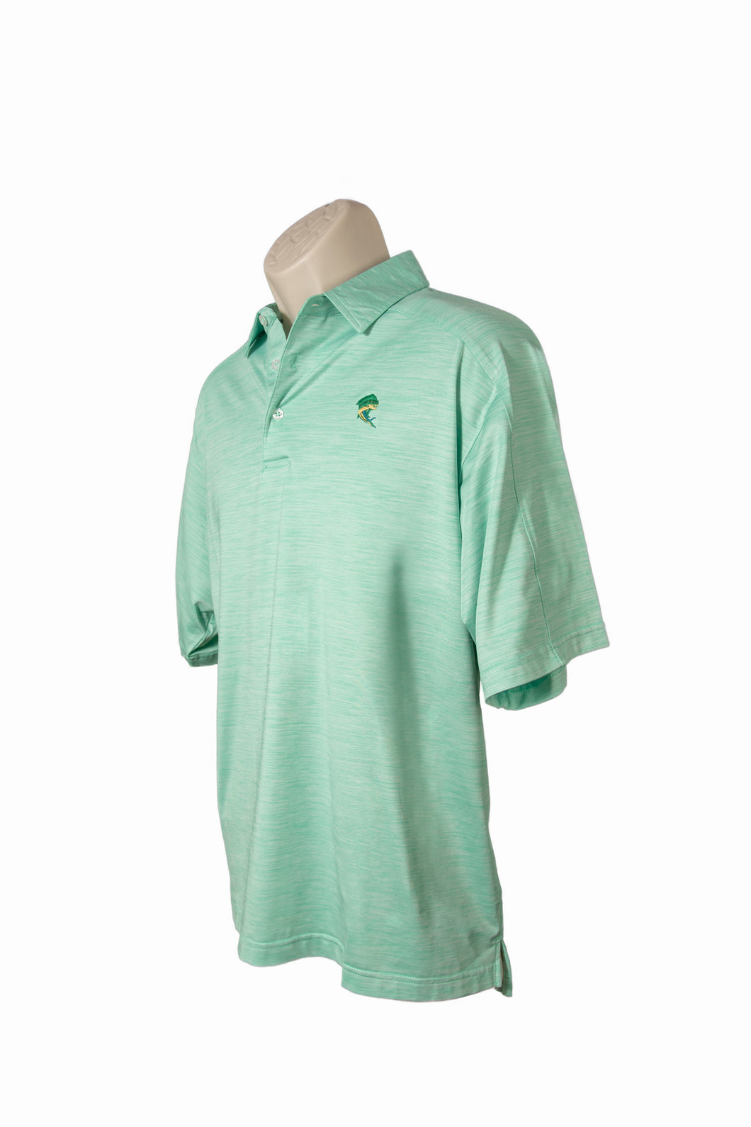 Heather Green Polo Style Shirt