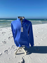 Load image into Gallery viewer, 1/4 Zip Royal Blue/Striped Pullover