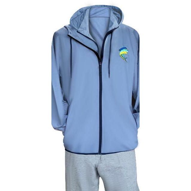 Light Blue Windbreaker