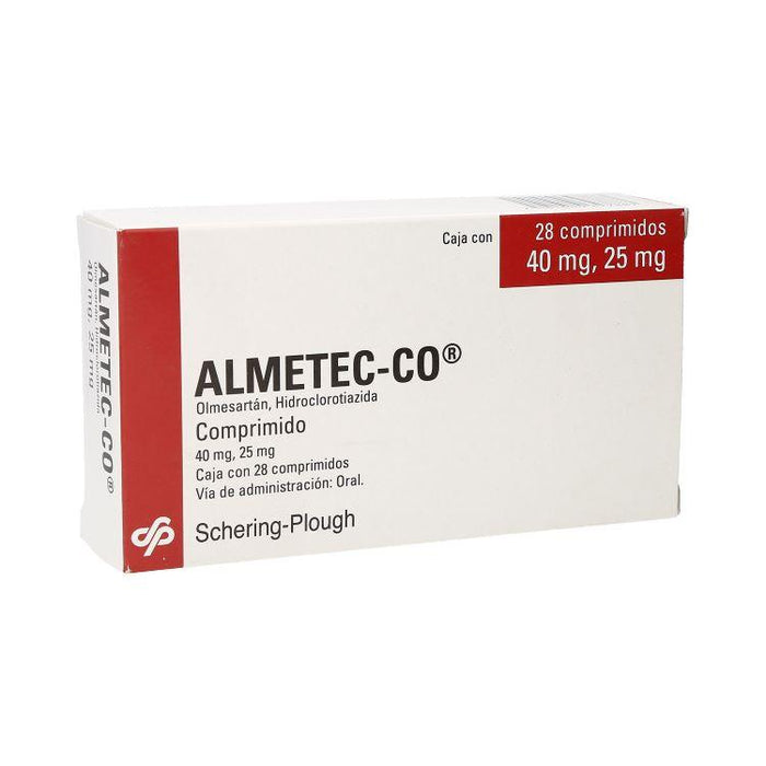 ALMETEC CO 40/25MG CPR C28