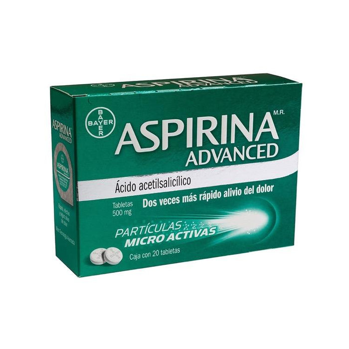 ASPIRINA ADVANCED 500MG TAB C20