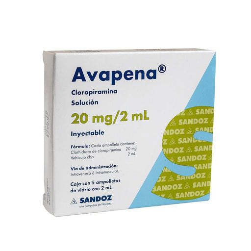 AVAPENA 20MG INY AMP 2ML C5