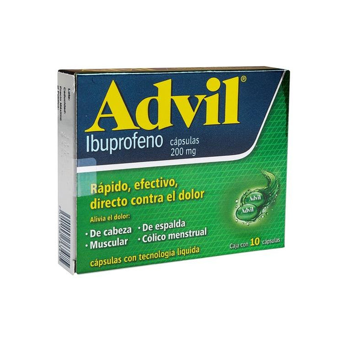 ADVIL FASTGEL 200MG CAP C10