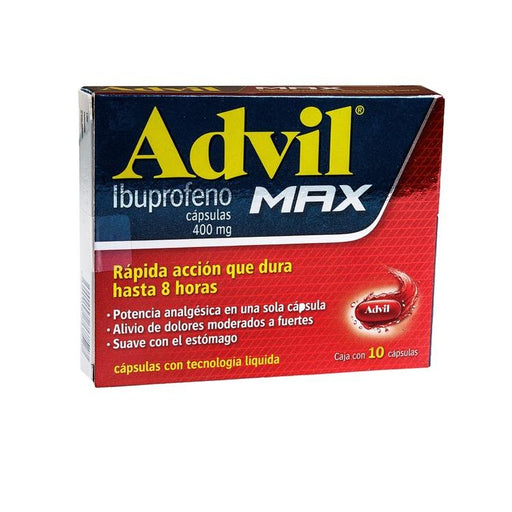 ADVIL MAX 400MG CAP C10