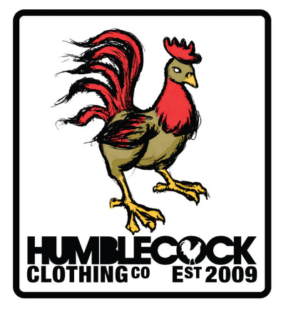 Humblecock Patch Sticker 3x3 inches