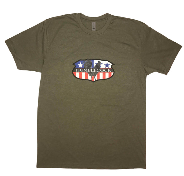 "American Crest T-Shirt (Military Green) ""ON SALE"""