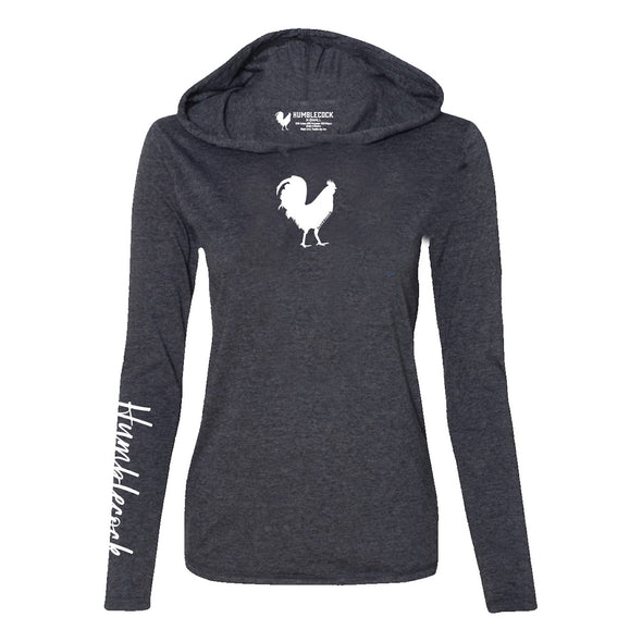 Girls lightweight Hoodie (Heather Grey w/ white)
