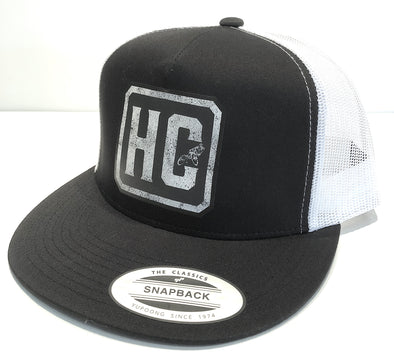 "MTB ""classic Snapback"" Black Hat with white mesh"