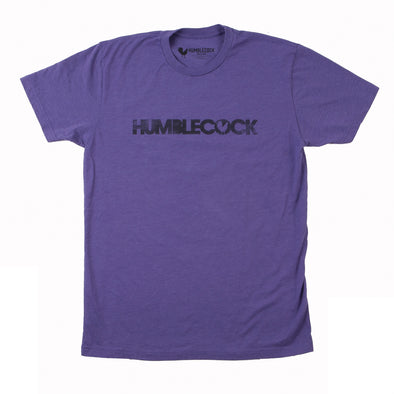 HumbleCock Logo T-Shirt (Purple w/ Black)