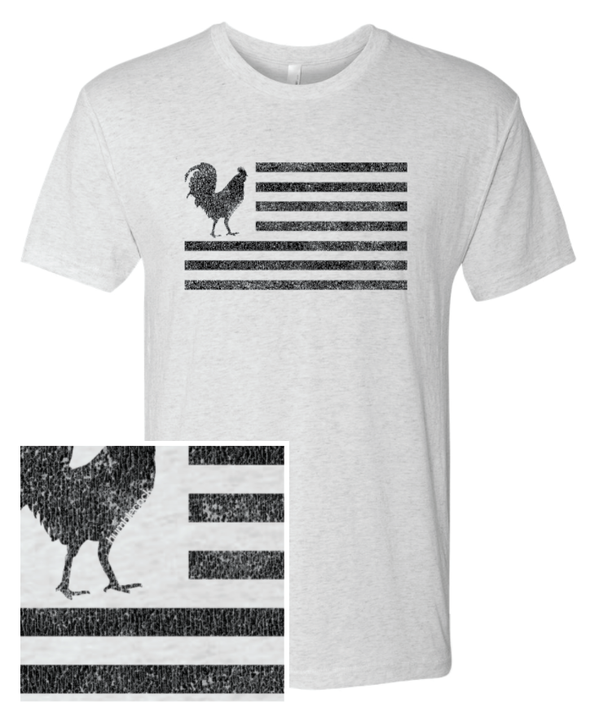 "Humblecock ""Flag"" T-shirt (white w/ black)"