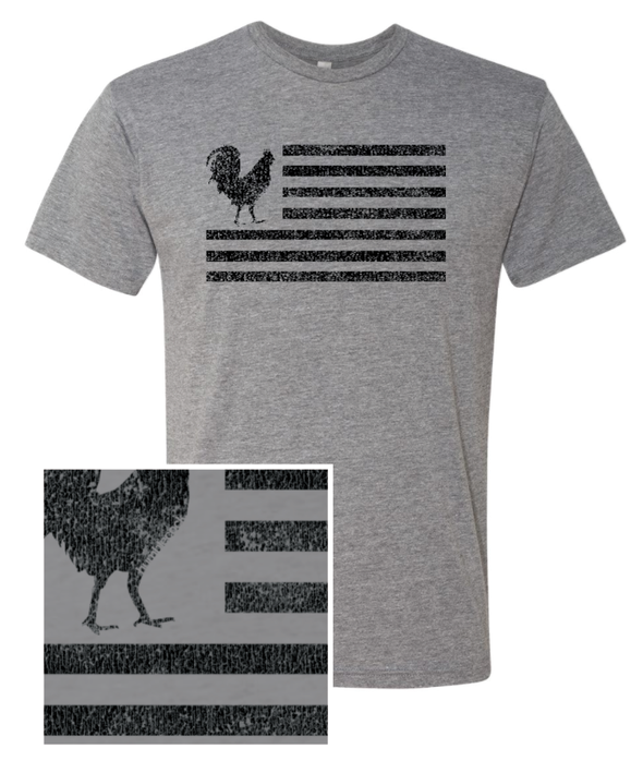 "Humblecock ""Flag"" T-shirt (grey w/ black)"