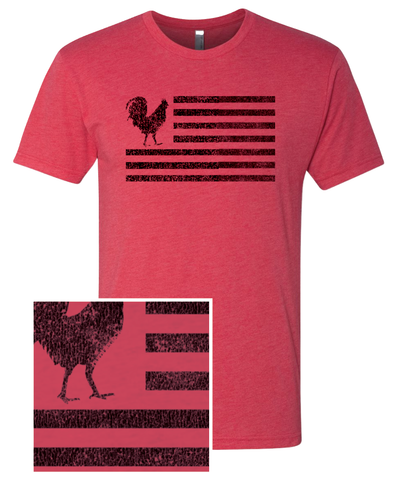 "Humblecock ""Flag"" T-shirt (red w/ black)"