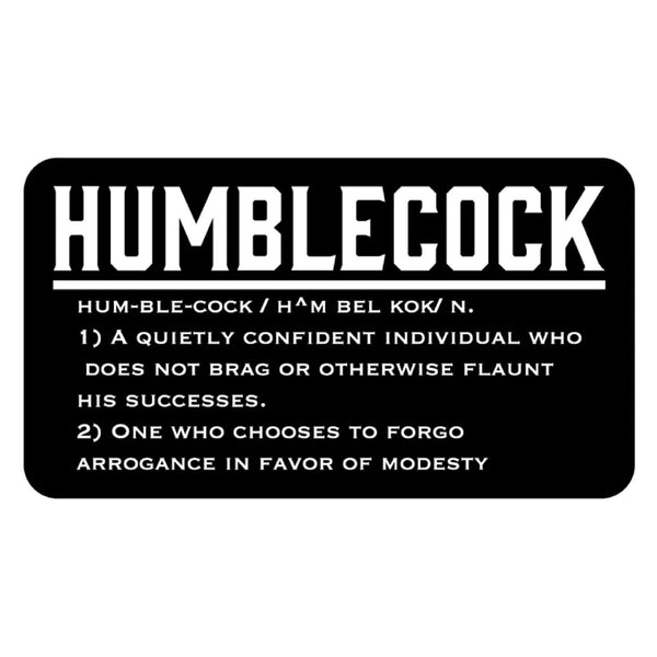 Humblecock Definition Sticker