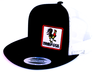 "Poppycock ""classic Snapback"" Black Hat with white mesh"