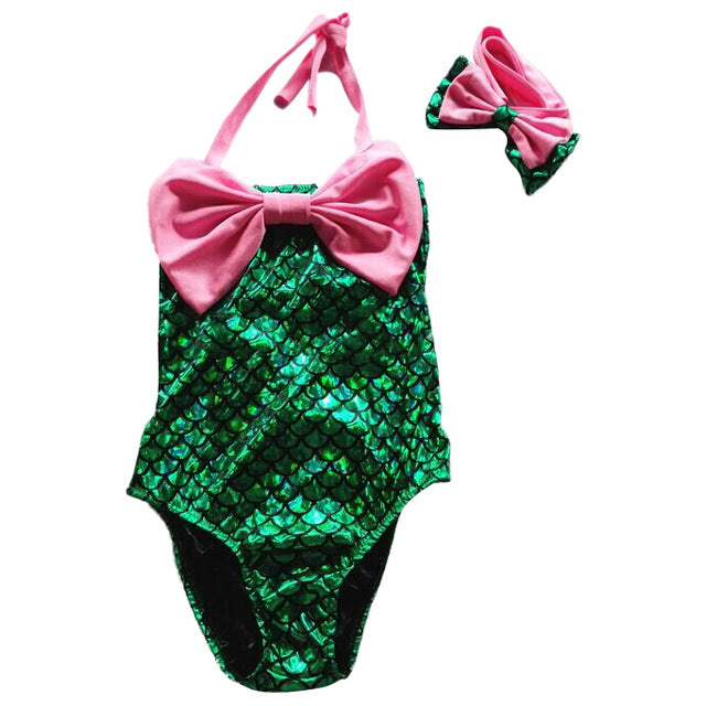 Mermaid Swimsuit-Hey Hippie-pink and green-90 yards 36 to 37cm-Hey Hippie