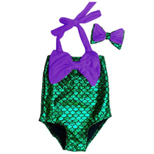 Mermaid Swimsuit-Hey Hippie-purple and green-90 yards 36 to 37cm-Hey Hippie