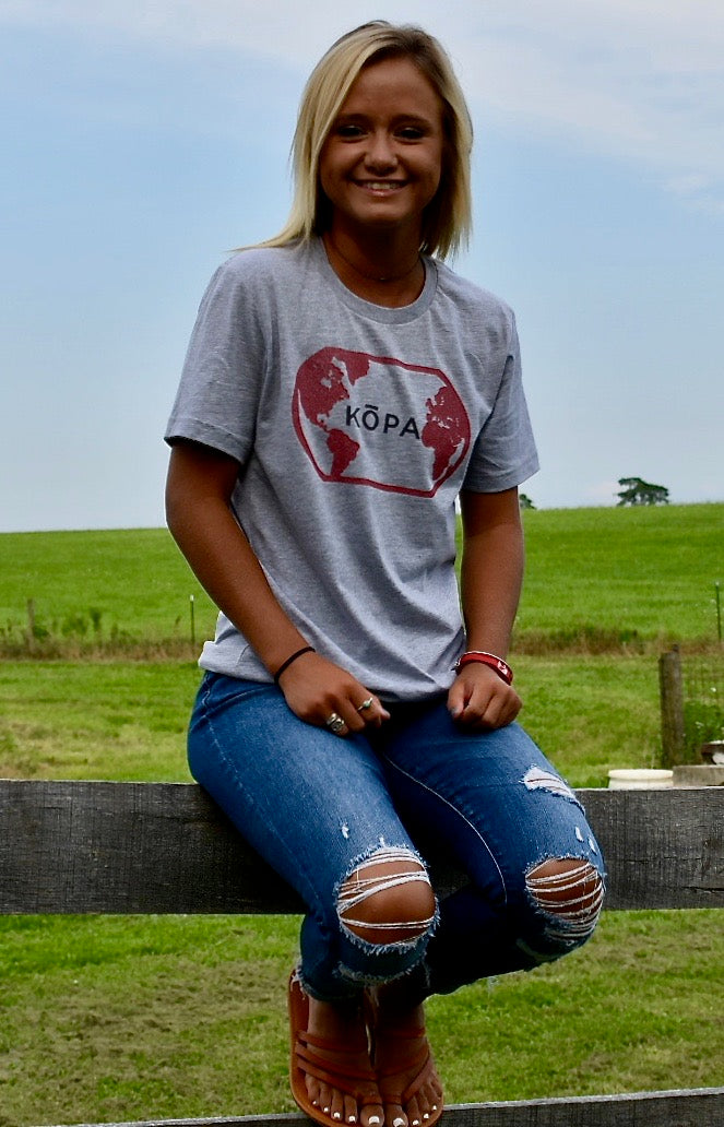 SCARLET AND GRAY KŌPA SHIRT