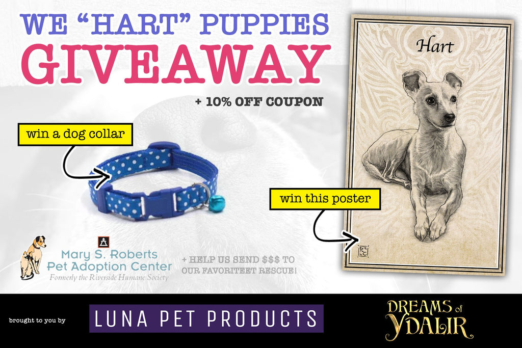 "We ""Hart"" Puppies Giveaway - Luna Pet Products & Dreams of Ydalir"
