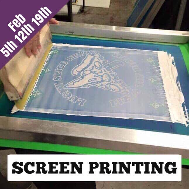Screen Printing Workshop (3 week series)