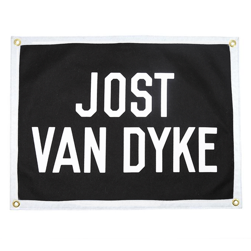 Jost Van Dyke Camp Flag - Black