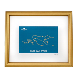Jost Van Dyke Road Map - Teal
