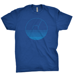 Jost Sunset in Circle Tee - Blue