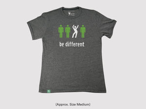 "Vintage ""Be Different"" Short Sleeve Shirt"