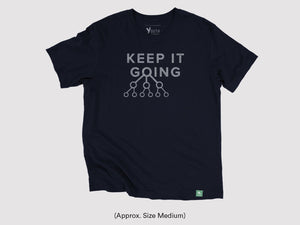 "Vintage ""Keep It Going"" Short Sleeve Shirt (Navy)"