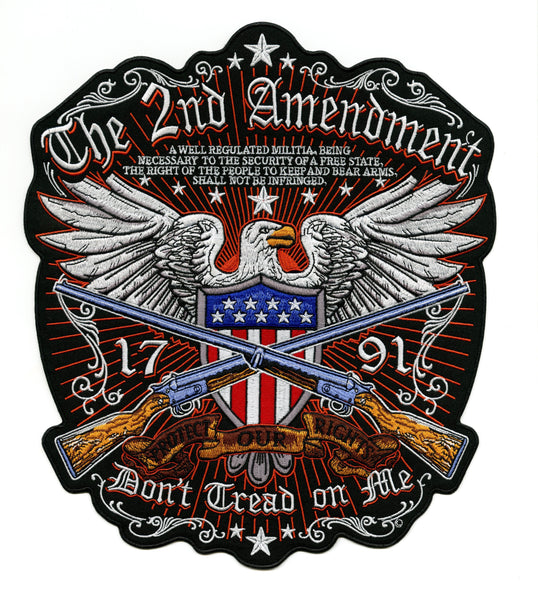 "2nd Amendment Eagle Patch | Patriotic ""Don't Tread On Me"" Military 