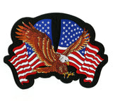 Federal Eagle Patch | US Flag Military Patriotic | Embroidered Iron On | Large 11""