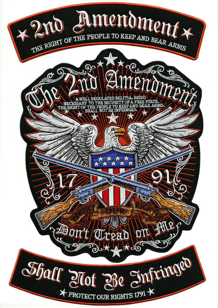 "2nd Amendment Rockers + Eagle Patch | Patriotic ""Don't Tread On Me"" Military 