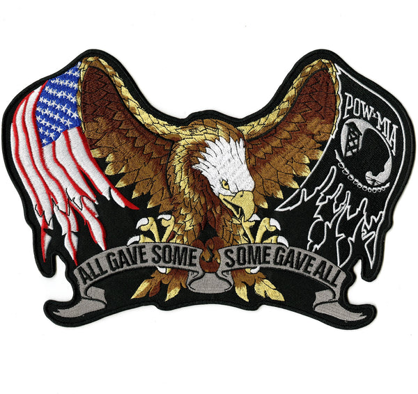 "Pow Mia Eagle Patch | ""All Gave Some"" Military Patriotic 