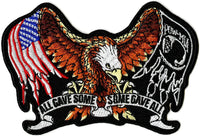 Pow Mia Eagle Patch | All Gave Some American Flag | Embroidered Iron On | Small 5""
