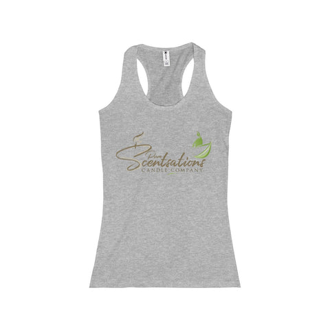 Pure Scentsations Candle Company Racerback Tank Athletic Heather Grey